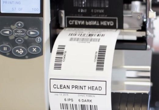 Impression thermique d'une étiquette