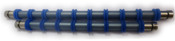 Printer rollers with 8_10 blue rings